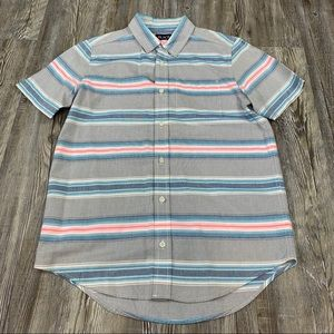 Children's Place Gray Pink Blue Stripe Shirt